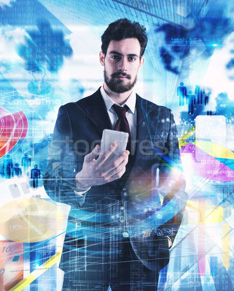 Businessman life Stock photo © alphaspirit