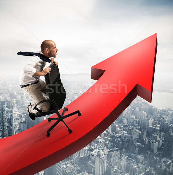 Go over to success Stock photo © alphaspirit