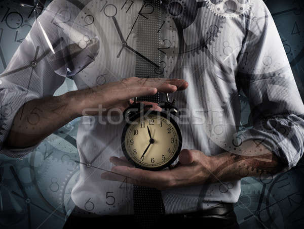 Time and alarm clock Stock photo © alphaspirit