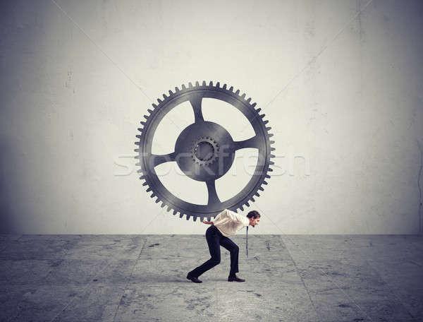 Integration concept with gear Stock photo © alphaspirit