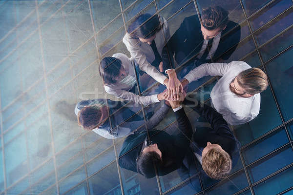 Pessoas de negócios mãos juntos integração trabalho em equipe Foto stock © alphaspirit