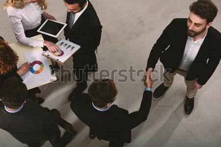 Homme d'affaires bureau travail d'équipe association doubler exposition Photo stock © alphaspirit
