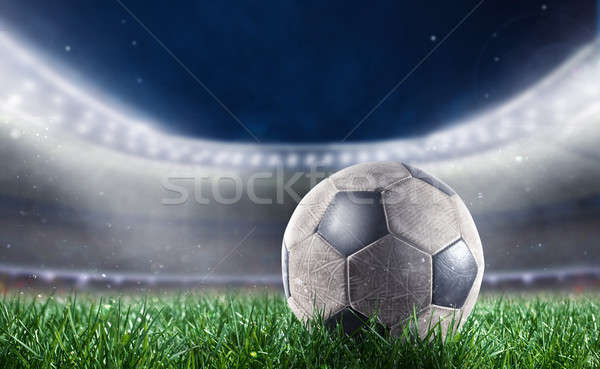 Soccerball at the stadium ready for World cup Stock photo © alphaspirit