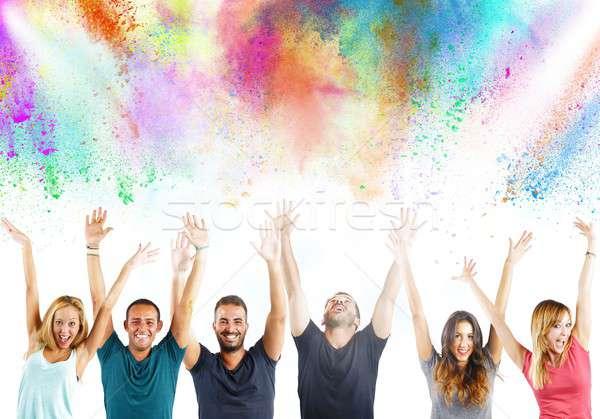 Happy people Stock photo © alphaspirit