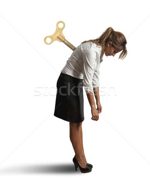 Tired businesswoman Stock photo © alphaspirit