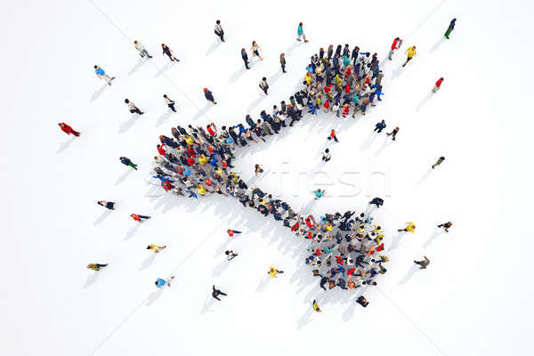 3D rendering of share people Stock photo © alphaspirit