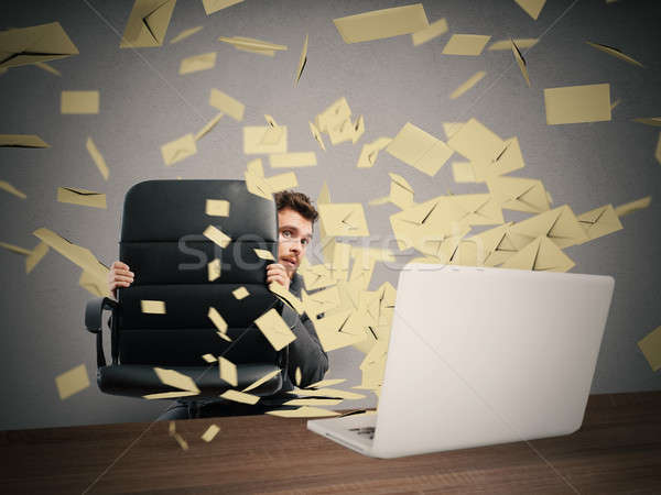 Scared by too many email Stock photo © alphaspirit