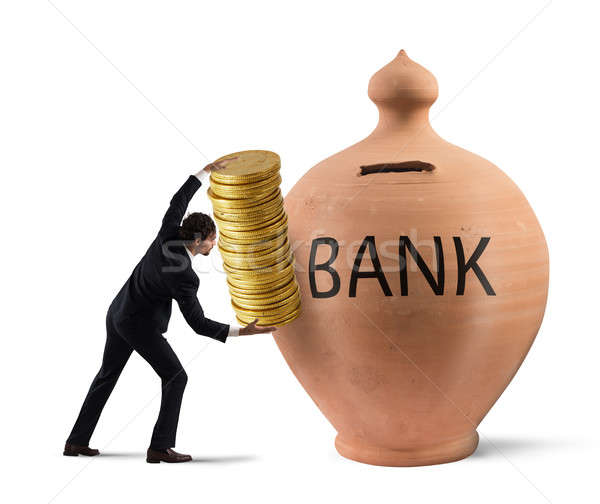 Deposit gains in a bank Stock photo © alphaspirit