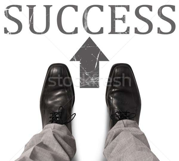 Businessman find and take the success road Stock photo © alphaspirit