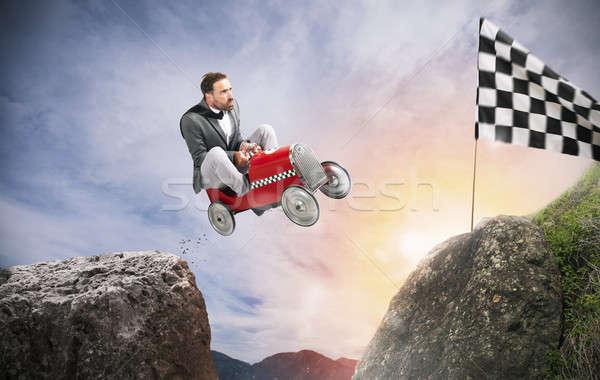 Hızlı işadamı araba yarışmacılar başarı rekabet Stok fotoğraf © alphaspirit