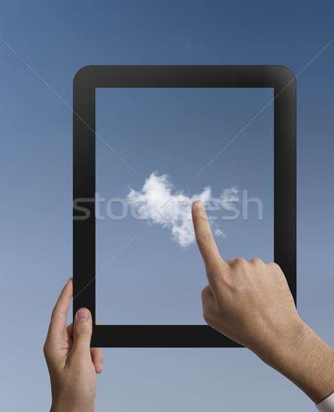 Virtual cloud Stock photo © alphaspirit