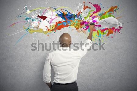 Fantasia livro nosso spray negócio papel Foto stock © alphaspirit