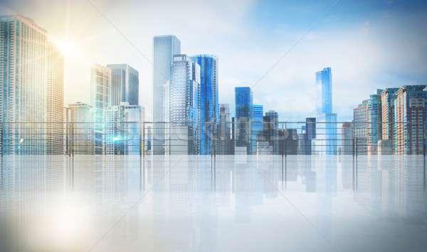 Entreprise bureau gratte-ciel urbaine vue affaires Photo stock © alphaspirit