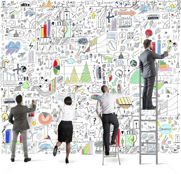 Business project on wall Stock photo © alphaspirit