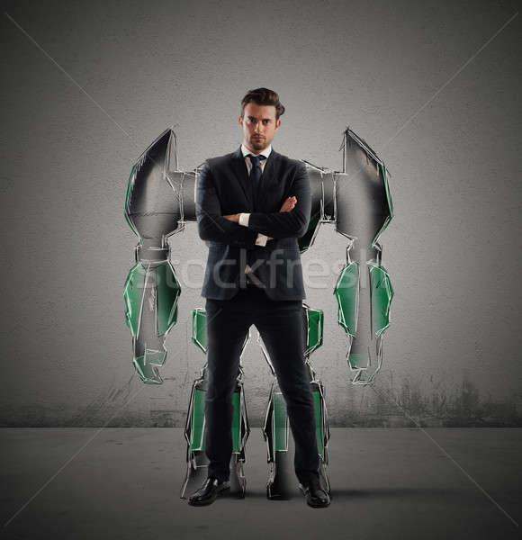 Robot businessman Stock photo © alphaspirit