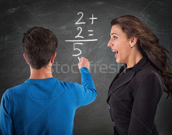 Donkey student and desperate teacher Stock photo © alphaspirit