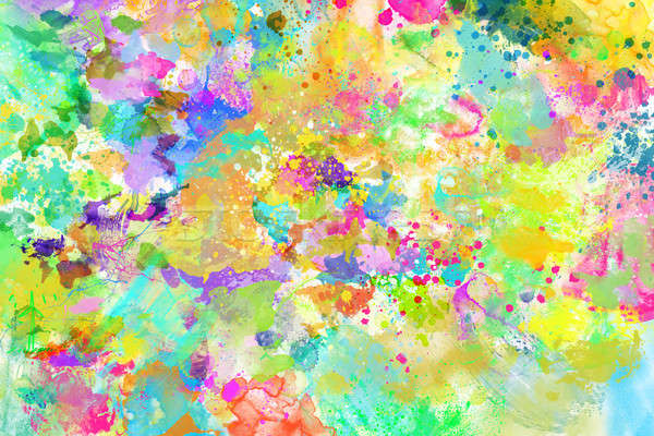 Rainbow liquid colors Stock photo © alphaspirit