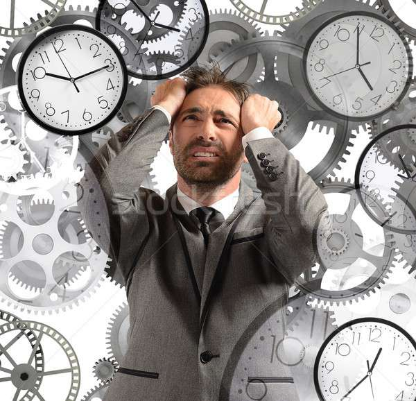 Businessman overload appointments Stock photo © alphaspirit