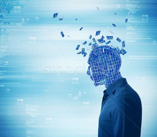 Internet bağımlılık fütüristik bilgisayar ışık mavi Stok fotoğraf © alphaspirit