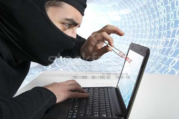 хакер вирус концепция ноутбука компьютер интернет Сток-фото © alphaspirit