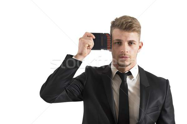 Businessman memory upgrade Stock photo © alphaspirit