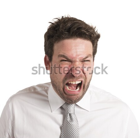 Pissed man screams Stock photo © alphaspirit