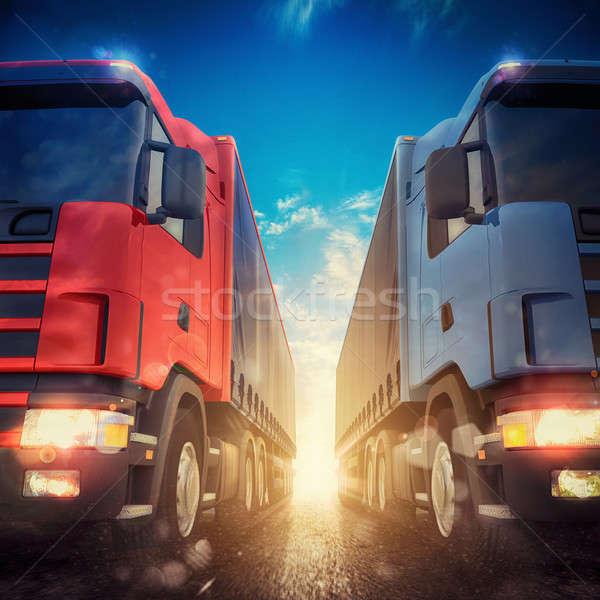 3D rendering of truck transport Stock photo © alphaspirit