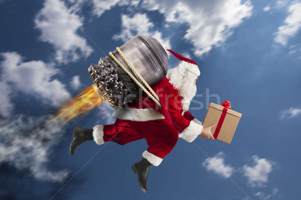Stock photo: Delivery of Christmas gifts