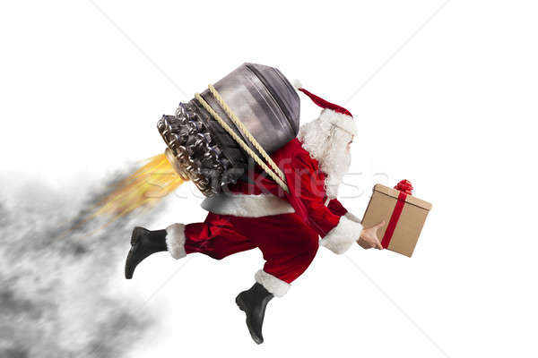 Delivery of Christmas gifts Stock photo © alphaspirit