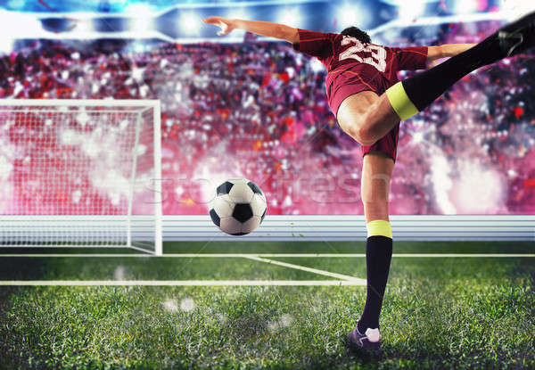 Soccer player goal Stock photo © alphaspirit