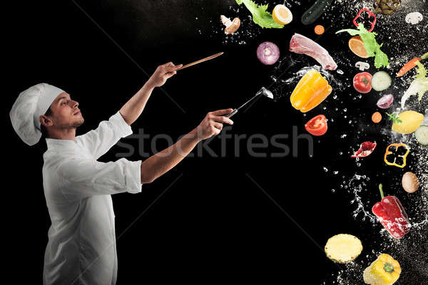 Food musical harmony Stock photo © alphaspirit