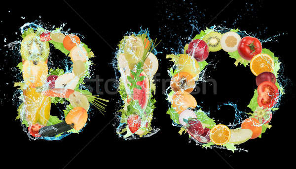 Stockfoto: Gezonde · bio · voedsel · wellness · vruchten · groenten