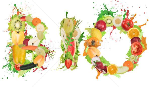 Saine bio alimentaire bien-être fruits légumes Photo stock © alphaspirit