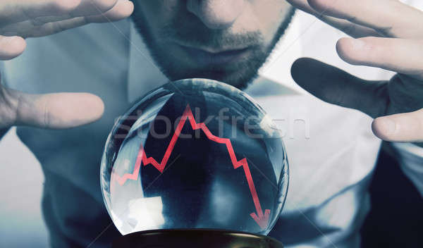 Forecasts of the financial crisis Stock photo © alphaspirit