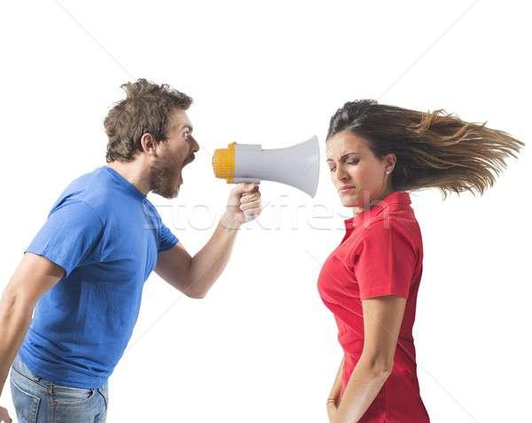 Stock photo: Bickering couple