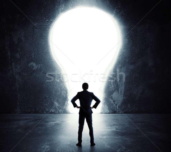 Ampoule porte affaires grand trou Photo stock © alphaspirit