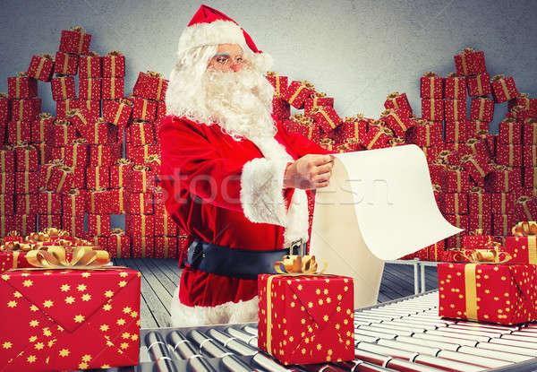 3D Rendering santa claus factory Stock photo © alphaspirit