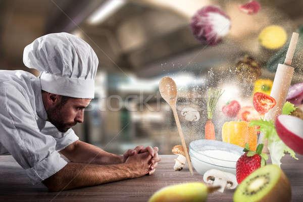 Magic food recipe at the restaurant Stock photo © alphaspirit