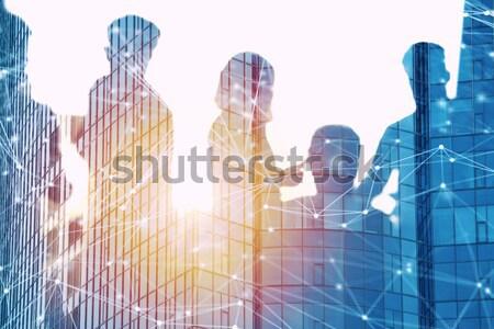 Foto d'archivio: Uomini · d'affari · lavoro · insieme · ufficio · internet · rete