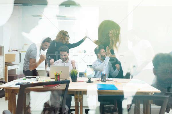 Büro Teamarbeit Business Partnerschaft Double Stock foto © alphaspirit