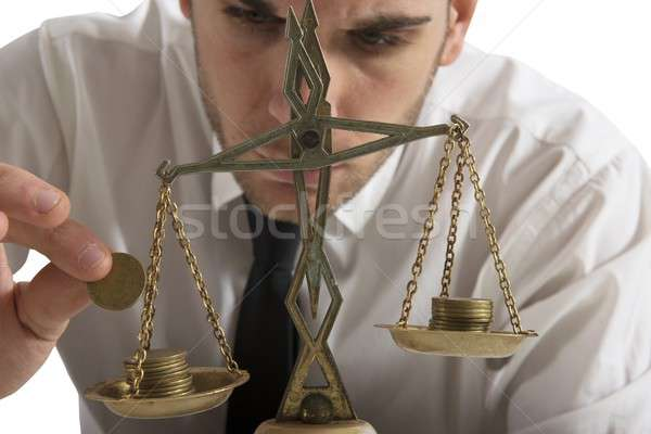 Stock photo: Earning balance