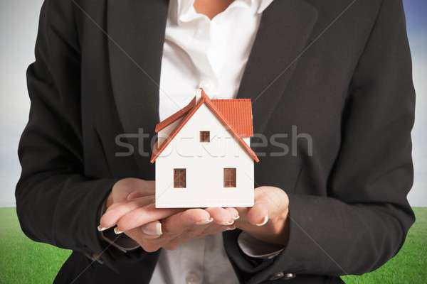 Nova casa negócio casa segurança verde Foto stock © alphaspirit
