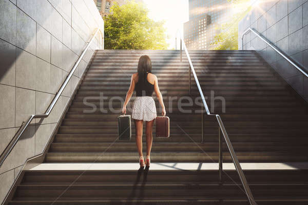 Holiday in town. 3D Rendering Stock photo © alphaspirit