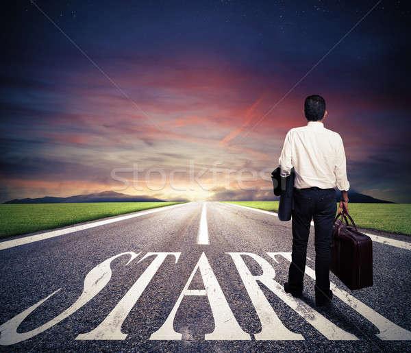 Concept of start straight for business Stock photo © alphaspirit