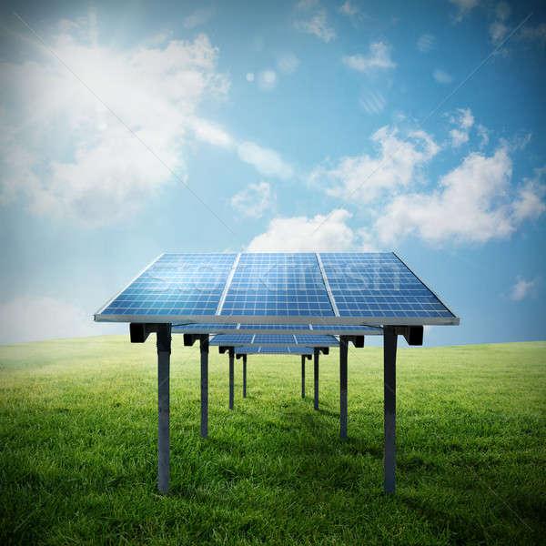 Solar panel renewable energy Stock photo © alphaspirit