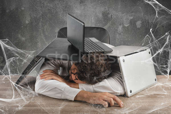 Trapped by technology web Stock photo © alphaspirit