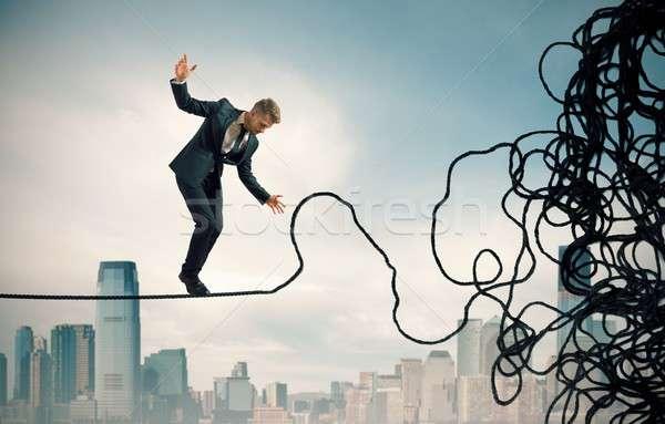 Problem trudność pojęcia biznesmen działalności równowagi Zdjęcia stock © alphaspirit