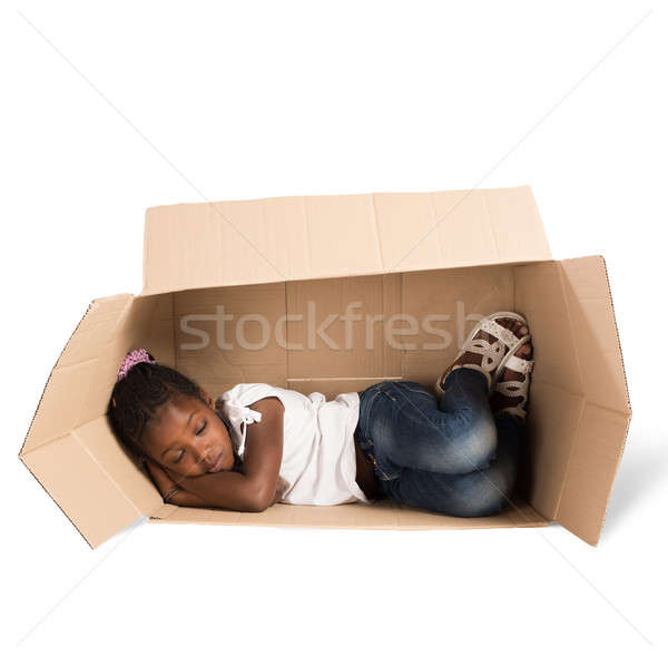 Poor child Stock photo © alphaspirit