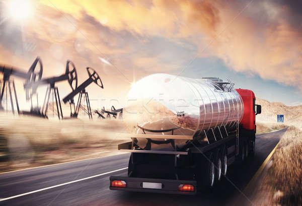 Oil truck Stock photo © alphaspirit