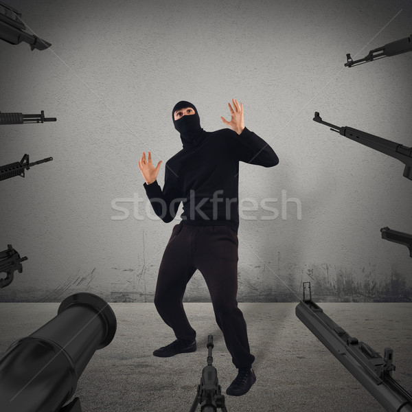 Thief caught red-handed Stock photo © alphaspirit